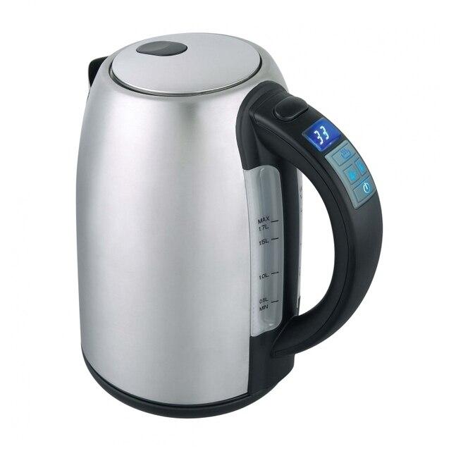 Чайник электрический GEMLUX GL-EK5020 (мощность 2200 Вт, объем 1.7 л, корпус нержавеющая сталь, Функция установки и поддержания температуры)