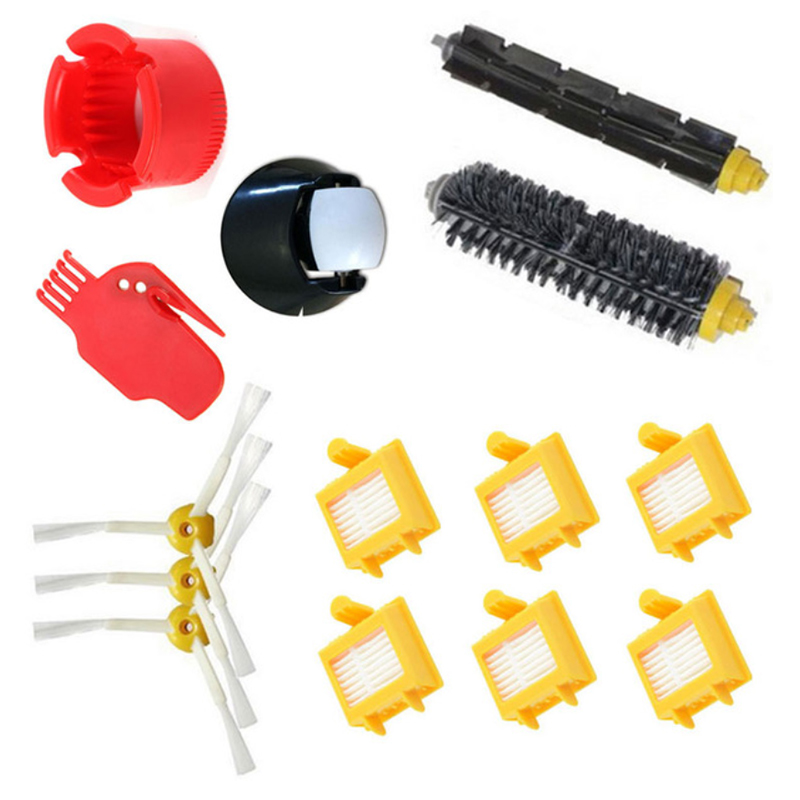 Vacuum Cleaner Parts Top Sale Front Wheel Caster Assembly &side Brush &hepa Filter & Bristle Brush & Beater Brush Kit For Roomba 500 600 700 800 Se Refreshing And Beneficial To The Eyes