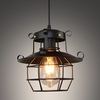 Vintage light Metal Industrial Light Fixtures Cage Edison Nordic Retro Loft Lamp Home decor Pendant light
