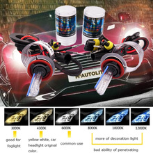 2pcs 12V 35W 55W Xenon H7 HID Conversion bulb H1 H3 H11 9005 Bulb Auto Car Headlight Lamp 3000k 4300k 5000K 6000k 8000K 12000K