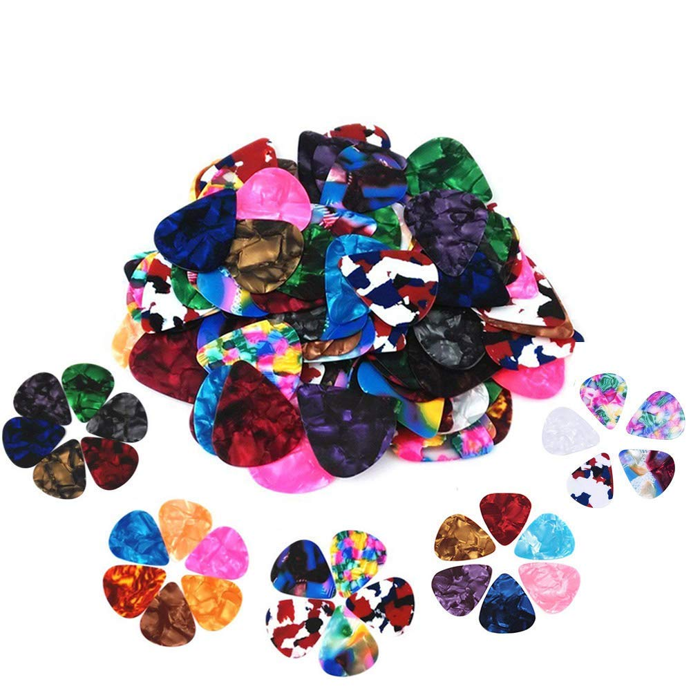 60 pack abstract art colorful guitar picks unique guitar gift for bass electric acoustic. Black Bedroom Furniture Sets. Home Design Ideas
