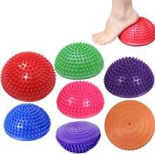 1760041759 Meia Bola de Yoga Aptidão Física Aparelho Massagem Ponto de equilíbrio Bola  Exercício Stepping Stones Vagens GYM Yoga Pilates Bo.