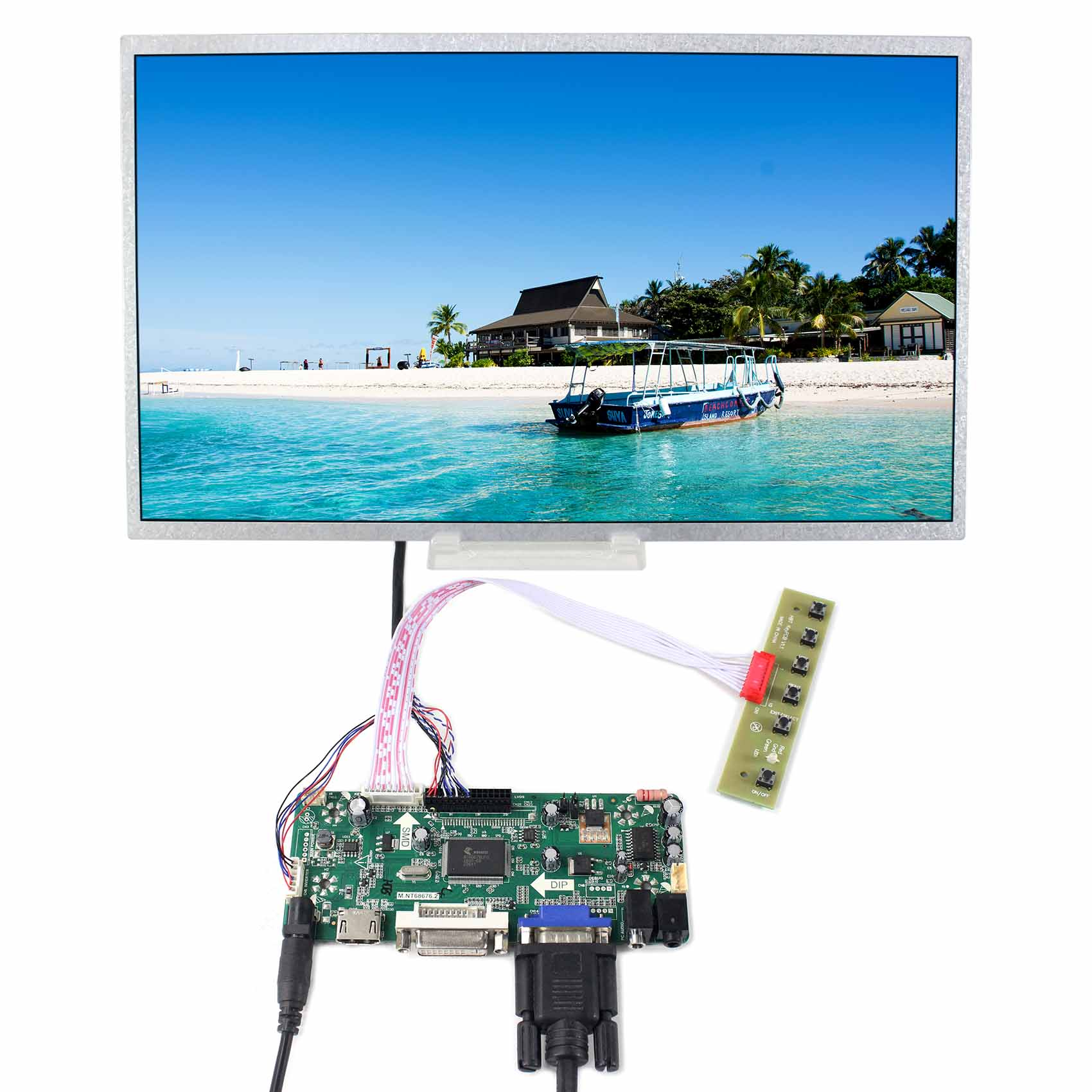 "14"" 14inch 1366X768 panel ( LTN140AT02 BT140XW02 HT140WXB HSD140PHW1 LTN140AT07 LP140WH1 N140B6) with HDMI DVI VGA Driver Board