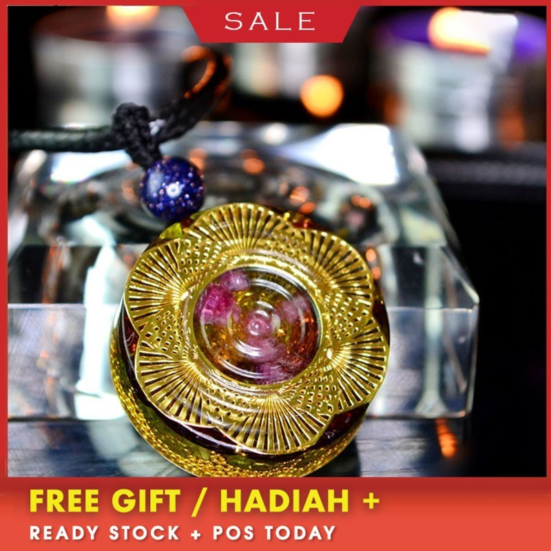 AURA REIKI Orgonite MineralCrystal Pendant Emotional Harmony Glamour Jewelry Reiki Crystal Pendant For Jewelry Making For Women