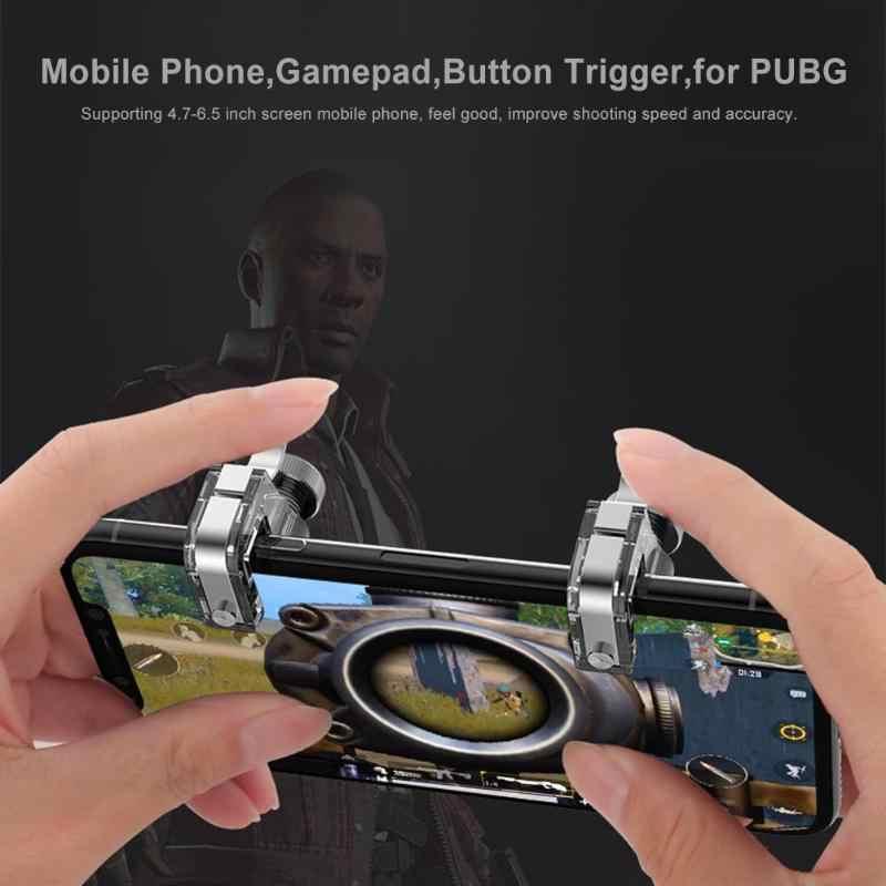 VODOOL металлический смартфон мобильный игровой триггер джойстик для PUBG мобильный геймпад Кнопка огня ключ прицела L1R1 шутер контроллер Pubg