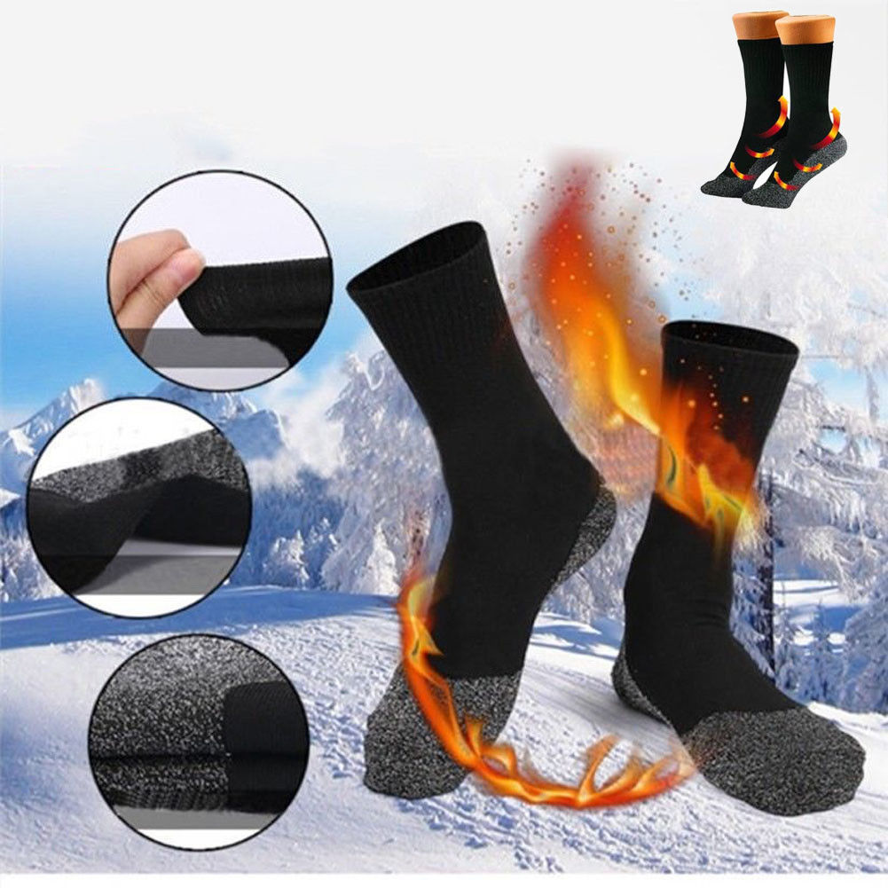 Winter 35 Aluminized Keep Feet Long Sock Heat Warm Fibers Insulation Below Socks