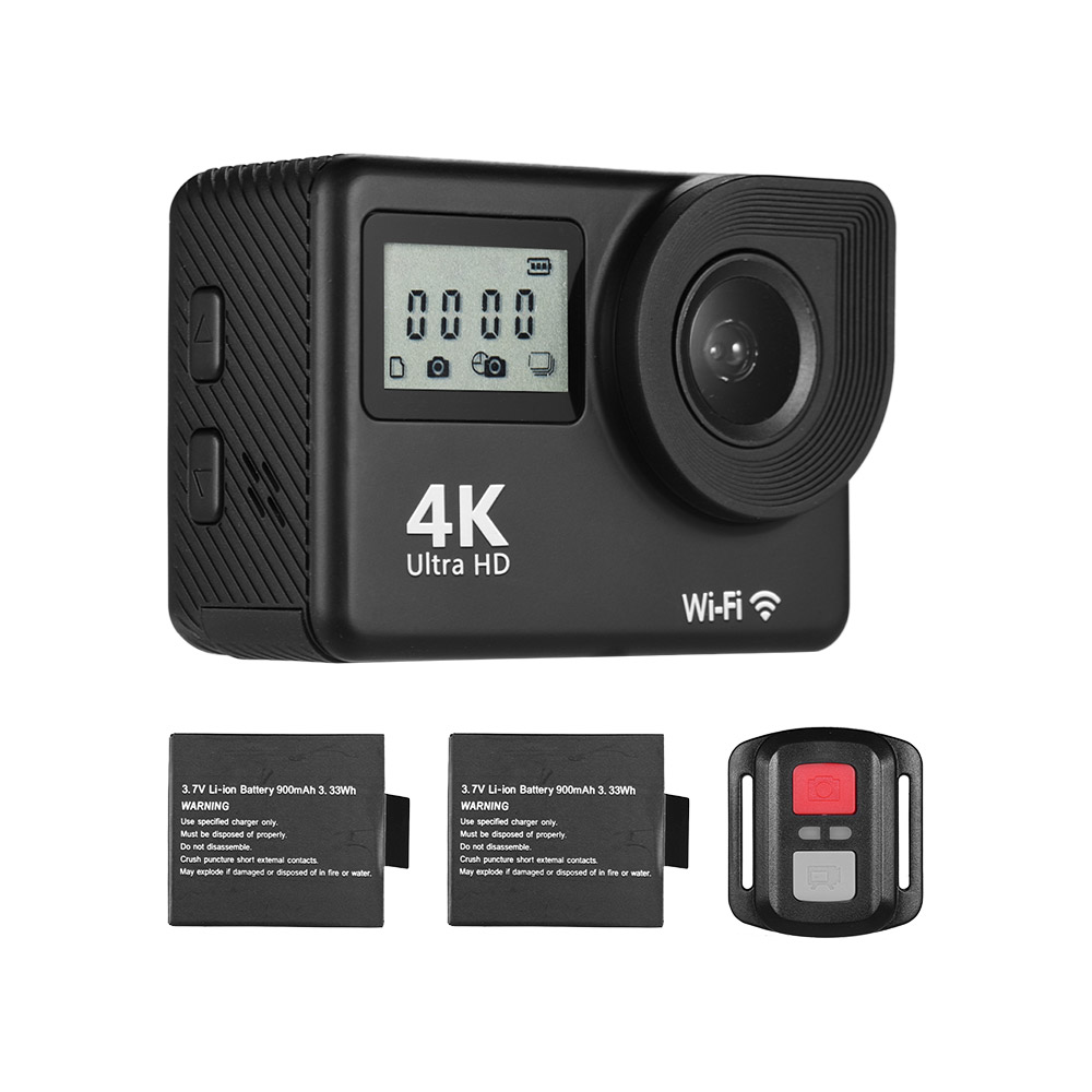 4K Ultra HD WiFi Sports Action Camera 18MP 170 Wide Angle 2 0 LCD Touchscreen 30
