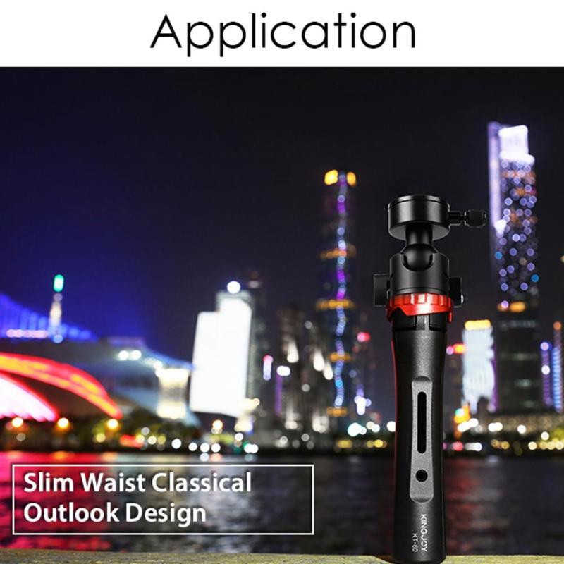 Kingjoy KT-60 Mini caméra trépied réglable Stable table trépied de bureau avec 360 degrés Ballhead Bear 3kg pour appareils photo DSLR - 6