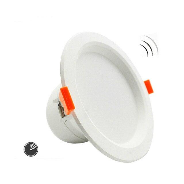 3 W/5 W/7 Вт светодиодный потолочный светильник даунлайт для Ванная комната Лестницы балкон AC220V с интеллектуальный радар Сенсор освещение