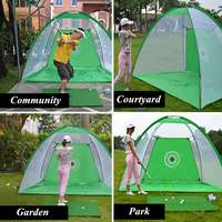 Foldable 1m/3m Golf Training Net Set 210D Encryption Oxford Cloth+Polyester Durable Sturdy Include a Carry Bag Training Aids