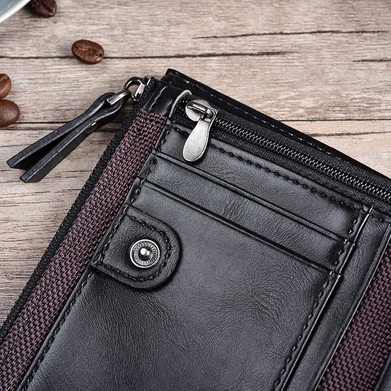 JINBAOLAI кожаные мужские кошельки Carteira Masculina, двойной карман на молнии, кошелек для монет, мужская сумка для денег, мини короткий кошелек, высокое качество