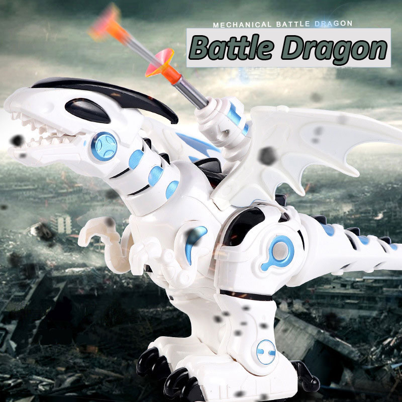 Robo Alive Toy Jurassic World Dinosaur Mechanical Battle Dragon Walking Flashing Sounding Electric Toy For Boy Gift 13