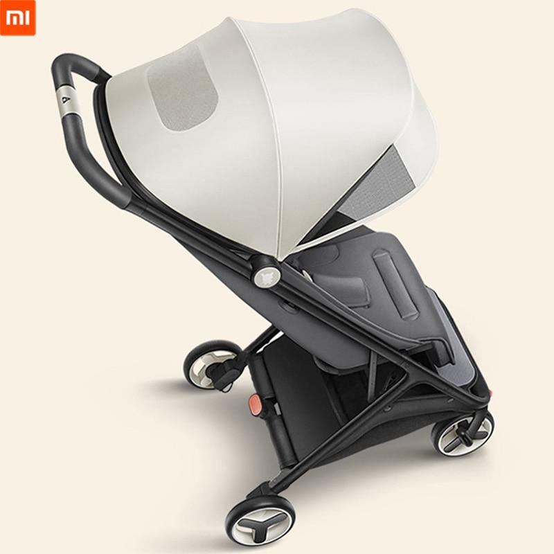 Xiaomi MiTU poussette pliante multifonctionnel boîtier de chariot pour bébés léger Portable chariot de voyage en Aluminium bébé poussette