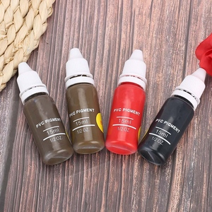 Image 5 - 15ml 4 Colors Tattoo Pigment ink Eyebrow Lip Eyeline Microblading Pigment Coloring Cream Ink for Permanent Body Paint MakeupTool