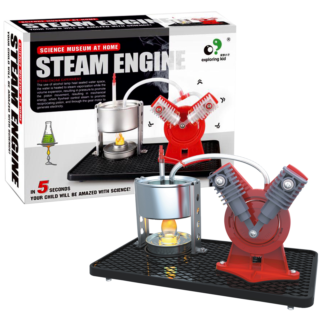 Steam Engine Experiment Model Building Kits Education Discovery Engine Model Kit Toys For Children