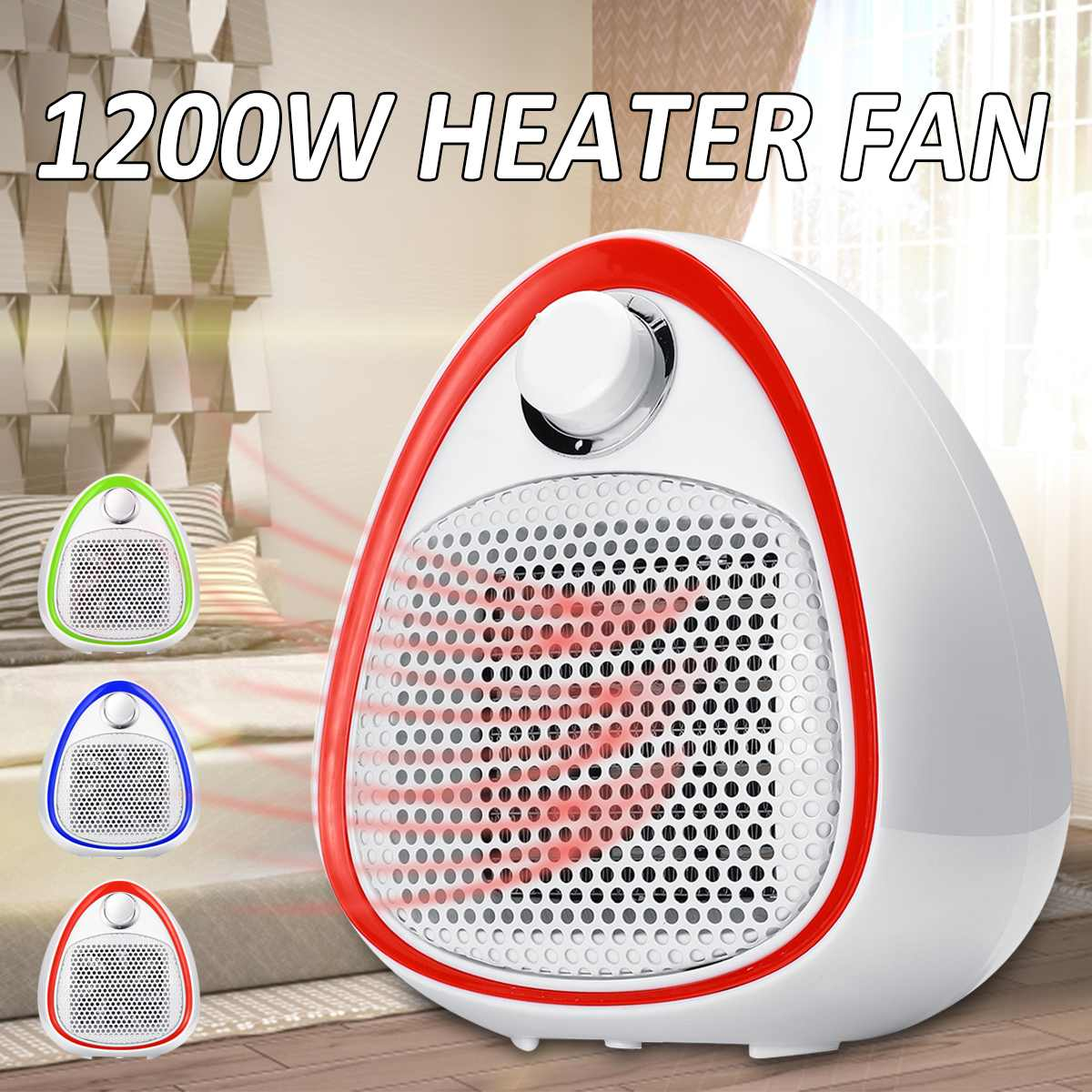 1200W Electric Space Heater Table Air Warmer Blower Mini PTC Ceramic Heating Fan Electrico Portable Handy Heaters Home Office цена