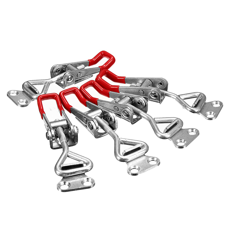 MTGATHER 5pcs Adjustable <font><b>GH</b></font>-<font><b>4001</b></font> Quick Toggle Clamp 100Kg 220Lbs Holding Capacity Latch Hand Tool New Arrival image