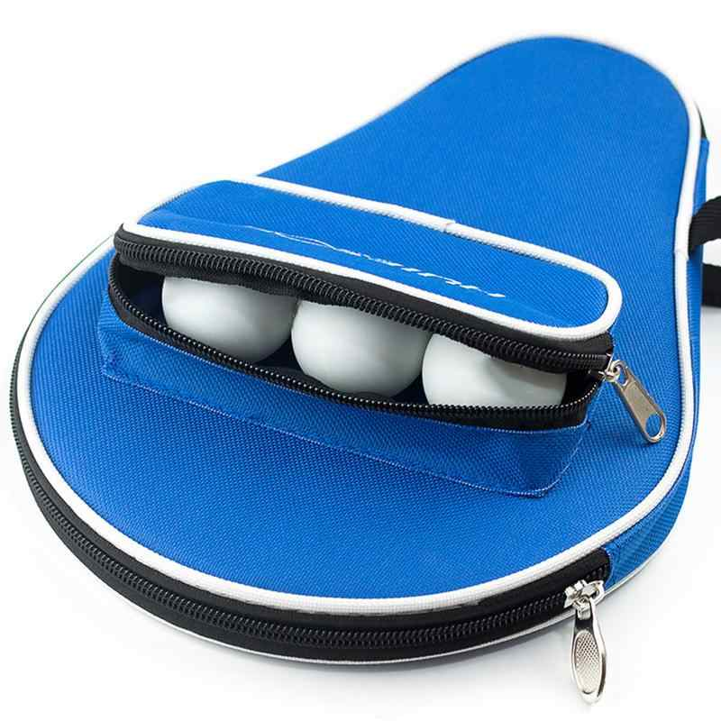Professional Oxford Table Tennis Racket Case With Outer Zipper Bag For Table Tennis Balls