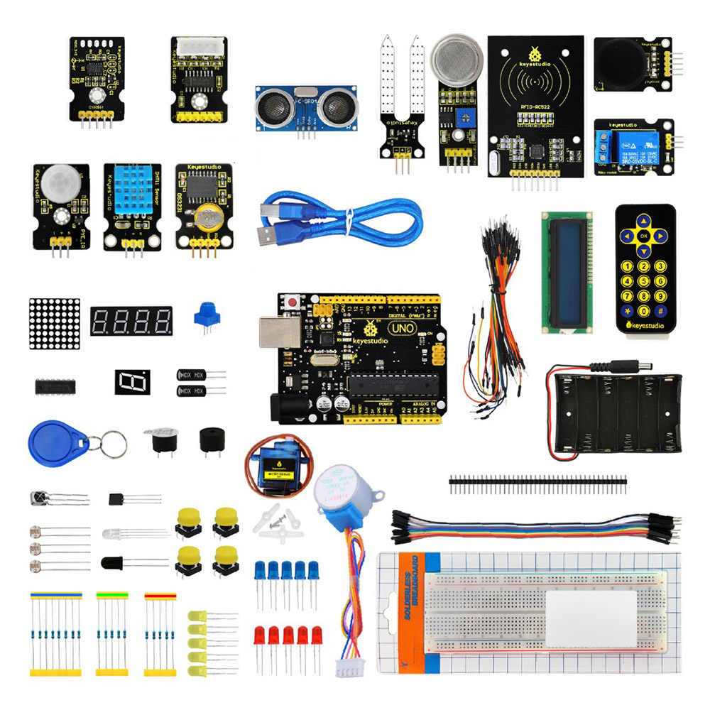 Keyestudio KS0077 Super Starter Kit/ Learning Kit (With UNOR3 ) For Arduino  Programming Learning Teaching + PDF(Online)+STEM