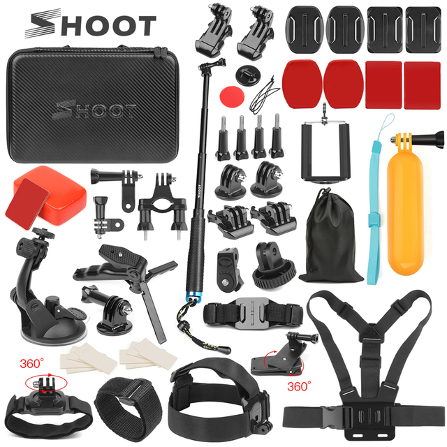 SHOOT Universal Action Camera Accessory for GoPro Hero 8 7 6 5 Black Xiaomi Yi 4K Sjcam M10 Eken H9r Go Pro Hero 8 7 Accessories