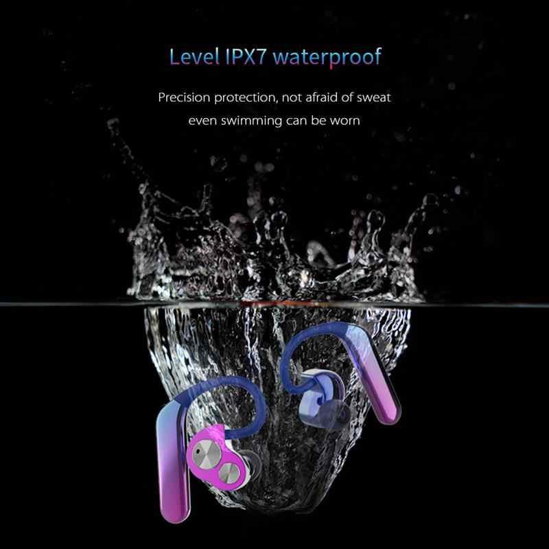 da58072d762 ... New X6 Aurora Wireless Bluetooth 5.0 Headset With Microphone TWS Stereo  Sport IP7 Waterproof Headphones Noise