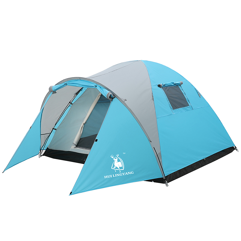 HUILINGYANG Outdoor Tent One-Bedroom Double-Layer Rainproof Waterproof Camping Family Picnic Durable 3 Seasons Tents SheltersHUILINGYANG Outdoor Tent One-Bedroom Double-Layer Rainproof Waterproof Camping Family Picnic Durable 3 Seasons Tents Shelters