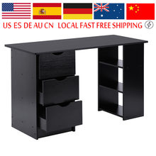 Modern and practical Computer Desk Office Student Study Table Corner Furniture with Drawers and Cupboard Shelves(China)