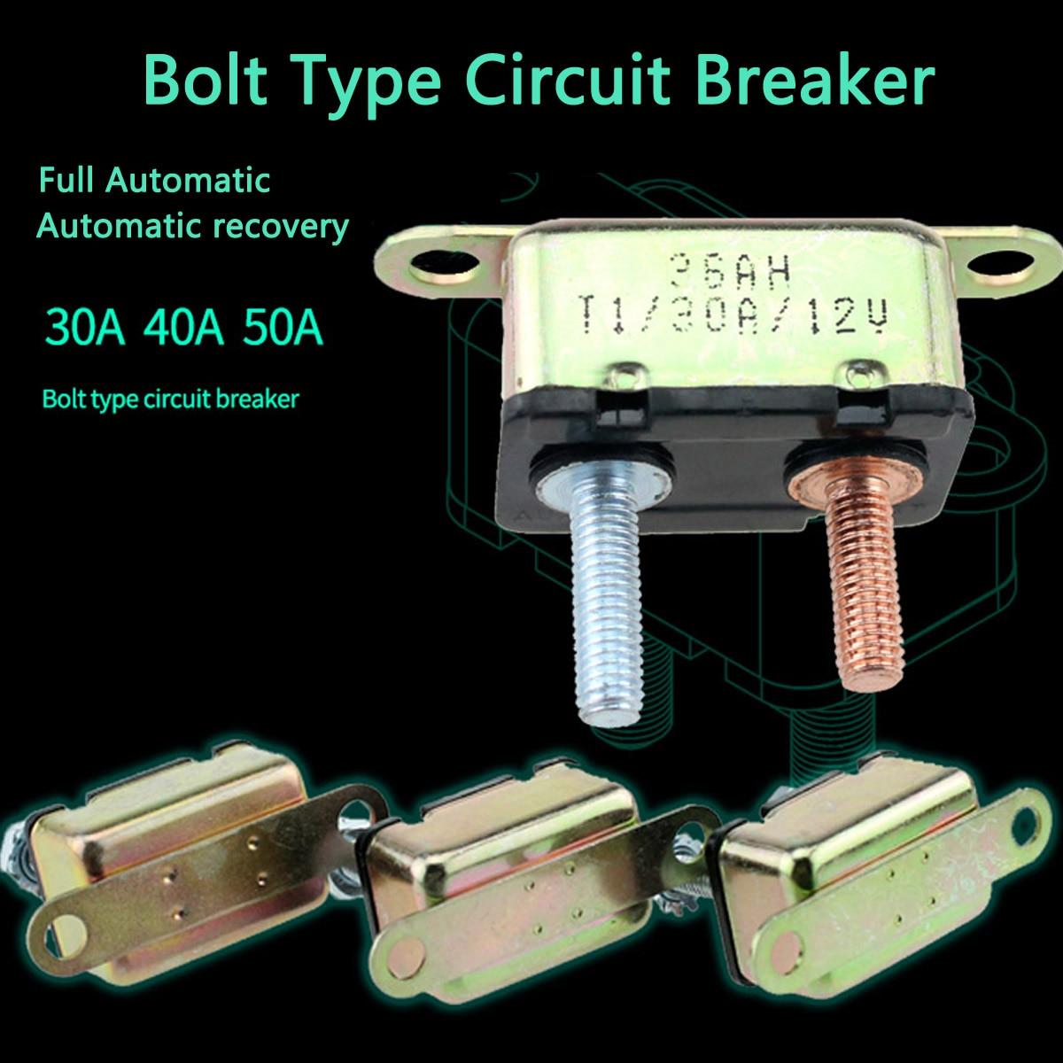Circuit Breaker Battery Fuse Automatic Reset Car Boat 40A 12V//24V