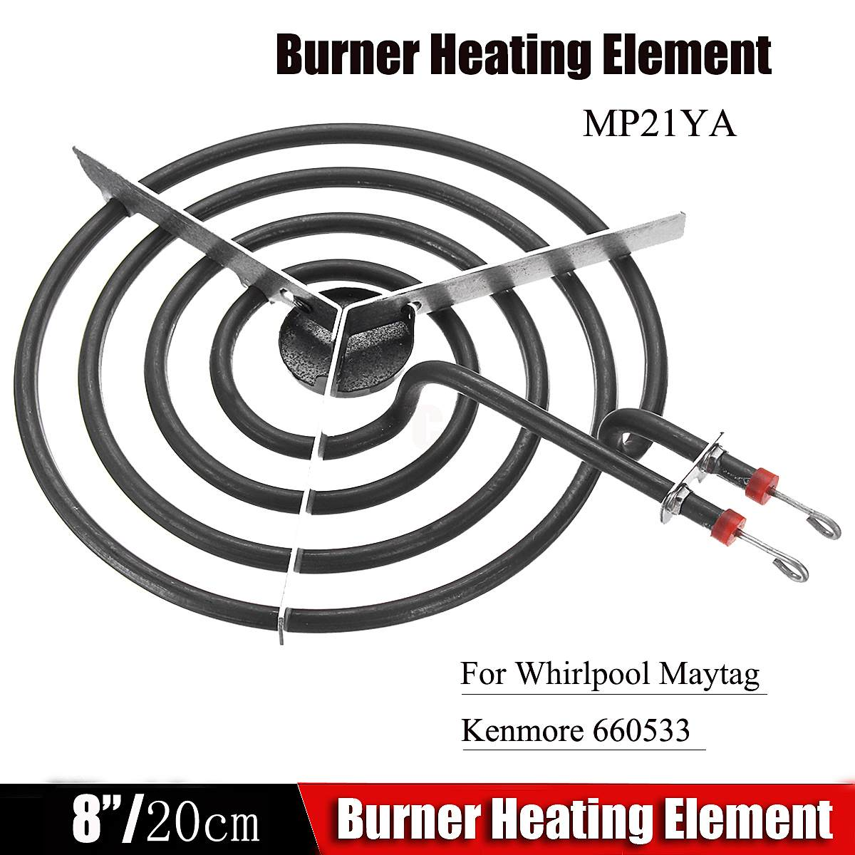 Four Rings Mosquito MP21YA Coil Type Heating Tube Electric Range Burner Element Unit 8inch for Whirlpool Maytag KenmoreFour Rings Mosquito MP21YA Coil Type Heating Tube Electric Range Burner Element Unit 8inch for Whirlpool Maytag Kenmore