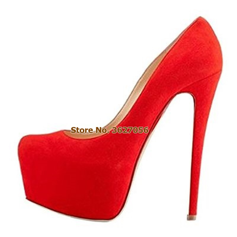 Ladies Red Black Purple Suede 16cm High Heel Wedding Shoes Stletto Heel Platform Pumps Nightclub Dress Shoes Banquet Pumps SaleLadies Red Black Purple Suede 16cm High Heel Wedding Shoes Stletto Heel Platform Pumps Nightclub Dress Shoes Banquet Pumps Sale