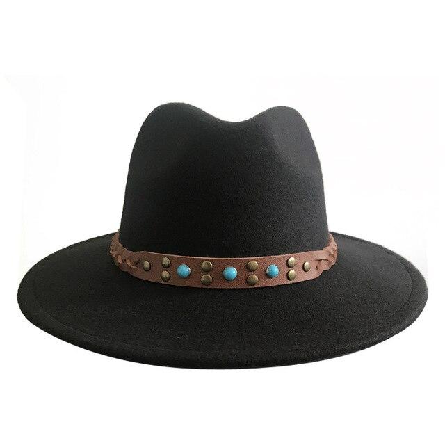 2018 de las mujeres de la moda sombreros mujer Jazz sombrero otoño  Primavera Verano negro frente 731acb29c72e