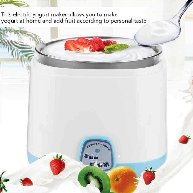 Maszyna do produkcji jogurtu elektryczna DIY 220V automatyczna wkładka ze stali nierdzewnej urządzenie kuchenne