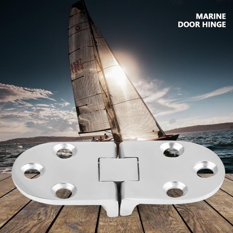 New 2Pcs Boat Stainless Steel Strength Durability Hinges Stamping Cabinet for Marine Cabin Door 66x30mm