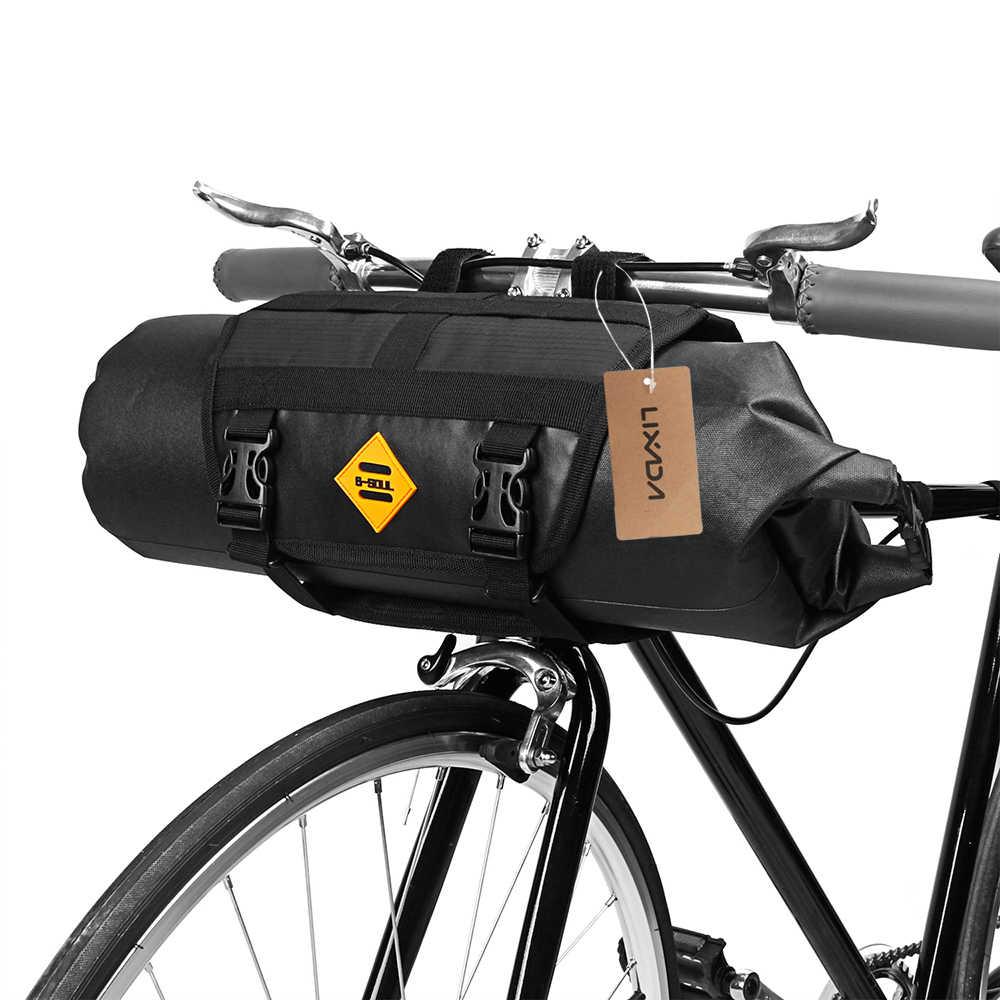 Lixada Cesta Bicicleta Delantera Bolsa de Manillar de Bicicleta Reflectante para Bicicleta de monta/ña para Ciclismo