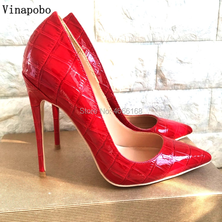Brand Shoes Woman red Snake Printed Women Shoes Sexy High Heels Pumps Pointed toe Ladies Party