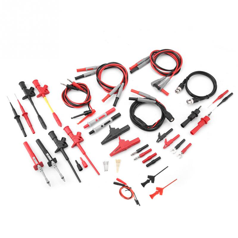 P1600F 18 in 1 Pluggable Replaceable Multimeter Probe Test Lead Kits BNC Test Cable Tool Tool