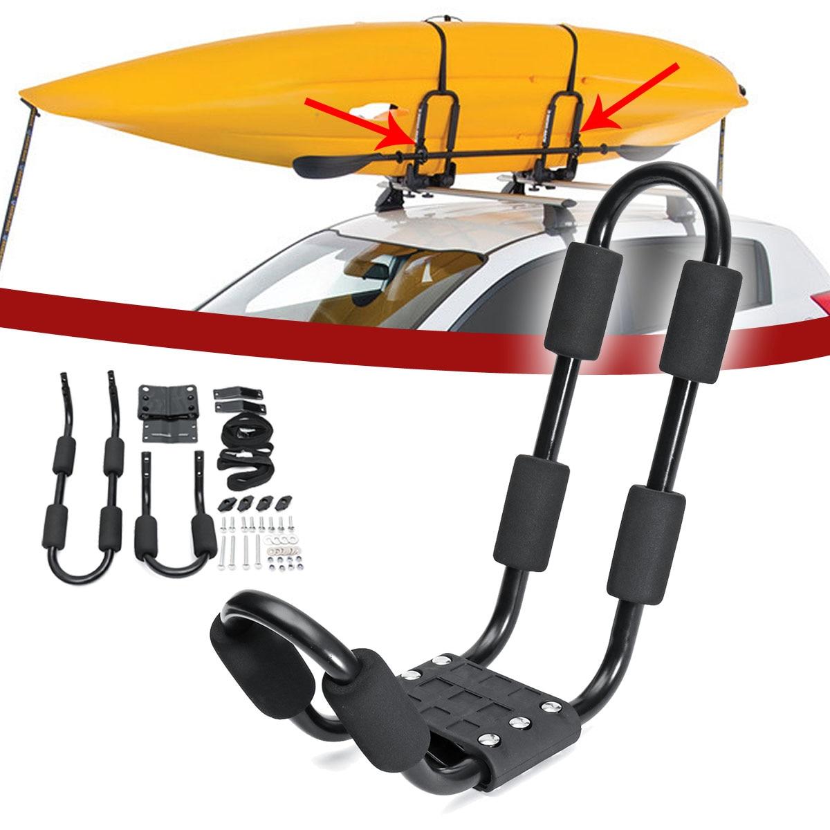 Support de Kayak en aluminium pour toit de voiture pour Kayak planche de surf véhicule de vélo bagages porte-bagages de voiture avec accessoires de sangles