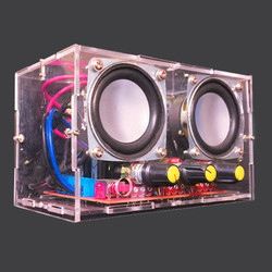 CLALITE DIY TDA2030 Mini Amplifier Two Channel Speaker Audio Kit Mini Electronic Production Parts Assembly 220V AC