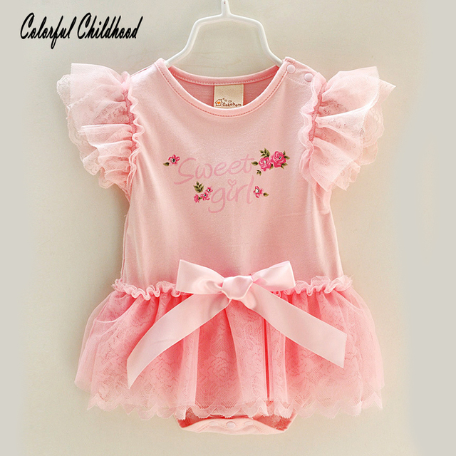 be914af330fc2 Sweet little baby dress Summer vintage embroidery romper baby girls  costumes toddler baby clothing newborn baby jumpsuit 0-12m