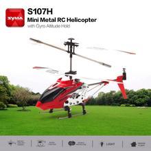 S107H Giroscopio Metallo 2.4G Radio 3.5 H Mini Elicottero RC di Telecomando il Mantenimento di Quota RC Drone Giocattoli Per Bambini Di Compleanno regalo