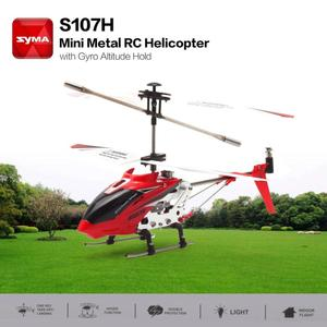 Image 1 - S107H Giroscopio Metallo 2.4G Radio 3.5 H Mini Elicottero RC di Telecomando il Mantenimento di Quota RC Drone Giocattoli Per Bambini Di Compleanno regalo