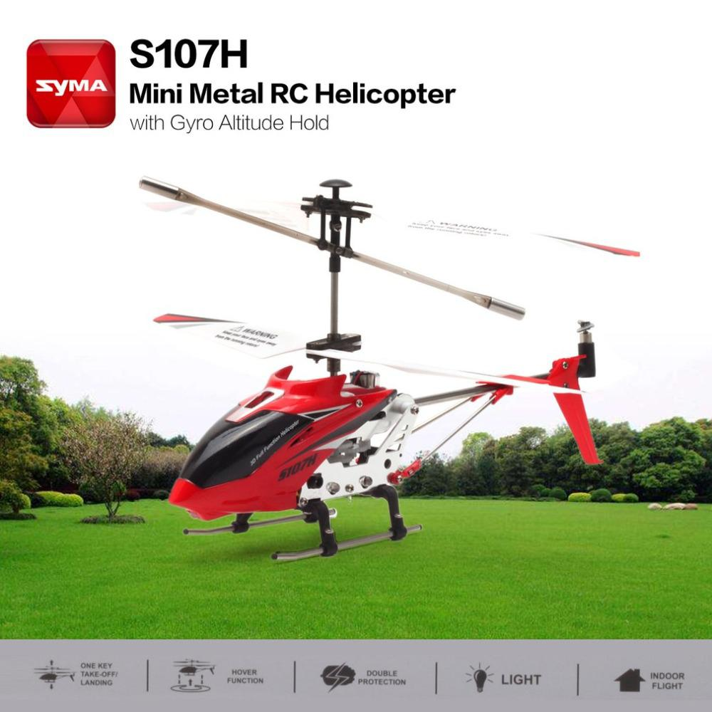 S107H Gyro Metal 2.4G Radio 3.5H Mini Helicopter RC Remote Control Altitude Hold RC Drone Toys Children Birthday Gift-in RC Helicopters from Toys & Hobbies