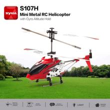цена на S107H Gyro Metal 2.4G Radio 3.5H Mini Helicopter RC Remote Control Altitude Hold RC Drone Toys Children Birthday Gift