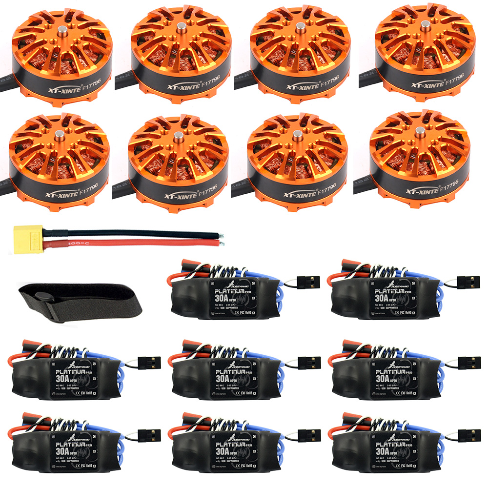 Bricolage 8 essieux Drone moteur Combo 8 pièces 3508 700kv moteur + 8 pièces platine 30A ESC + XT60 connecteur + bande de fixation