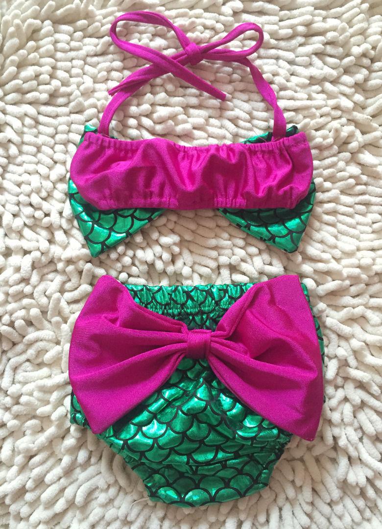 Conscientious Kids Swimming Suit Swimmer Mermaid Baby Girls Bikini Set Halter Bowknot Swimwear Swimsuit Bathing Suit Yoga Mats