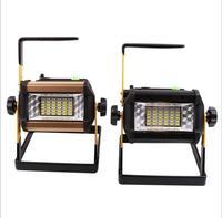 5 قطعة مقاوم للماء IP65 50 واط LED الكاشف قابلة للشحن 36LED كشاف ضوء Led المحمولة العمل مهايئ الضوء + شاحن سيارة مصباح التخييم-في الأضواء الكاشفة من مصابيح وإضاءات على