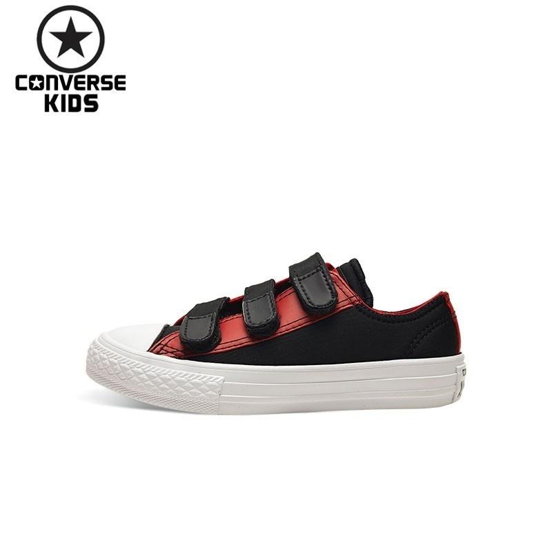 CONVERSE Children's Shoes Hit Color Low Help Magic Subsidies Leisure Time Canvas Breathable Shoes #361024C-H converse kids shoes black star arrows low help magic subsidies canvas shoes 660743c h