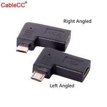 USB-C тип-c женский микро USB 2,0 5Pin Мужской адаптер данных 90 градусов левый и правый угловой тип