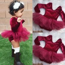 PUDCOCO/бальное платье для маленьких девочек; фатиновая юбка; милый танцевальный комбинезон; одежда; яркая красная одежда для детей от 0 до 24 месяцев