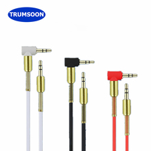 Trumsoon 5pcs 3.5mm Jack AUX Audio Cable Bending plug Aux Cord for Laptop Phone Speaker Car Headset